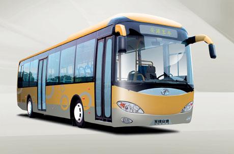 混合动力城市客车新型混合动力车有以下六大优点:1、 超低排高清图片