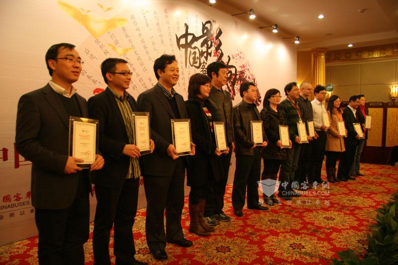 影响中国客车业2010年国内市场推荐车型评选现场