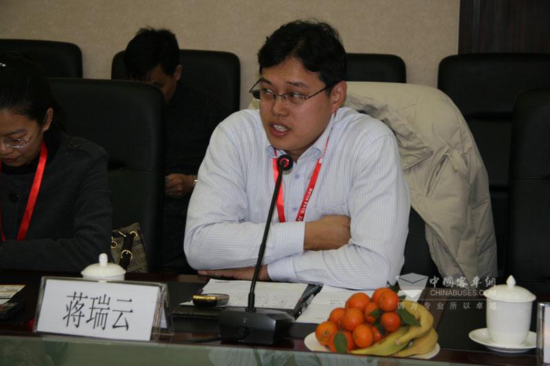 中大客车海外市场部经理蒋瑞云