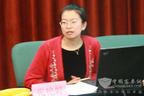 中国客车英文网 副主编张艳婷