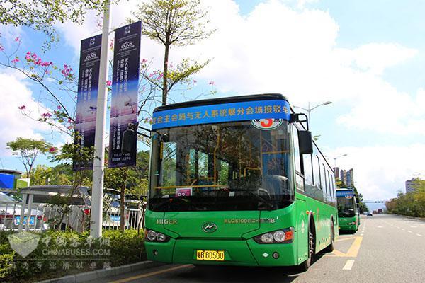 客车网 新闻 客车新闻 > 深圳街头的绿色倩影,海格混动公交服务第17届