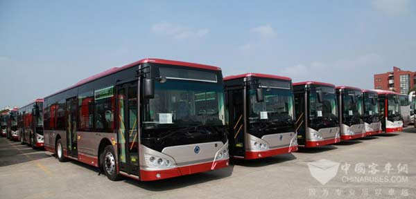 绿动津城,申龙百辆新能源公交服务天津