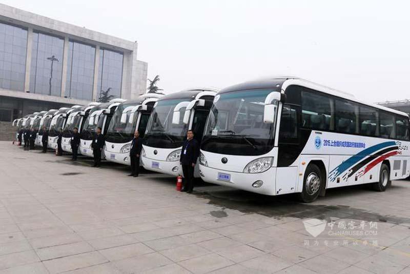 郑州:上合组织成员国总理会议接待用车亮相