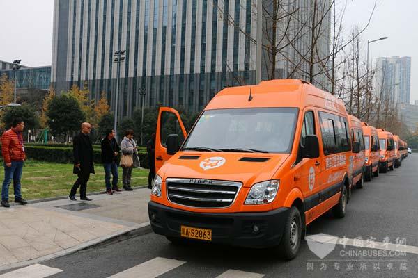 成都飞牛巴士海格车队-海格纯电动为道路客运插上 互联网 新能源 翅膀高清图片