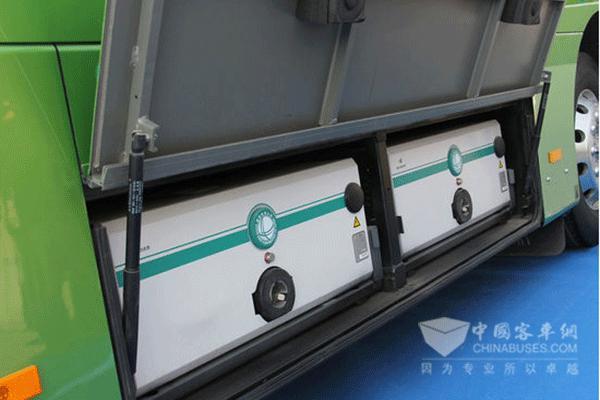 宇通纯电动客车搭载的动力电池组