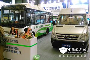 少林纯电动公交车亮相上海国际客车技术展