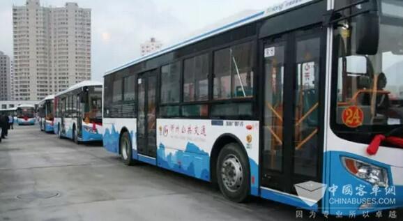 忻州公交40辆银隆新能源纯电动公交车正式运营