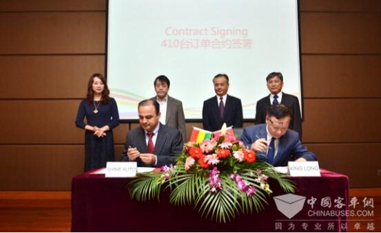 双方现场签订410辆轻客采购协议