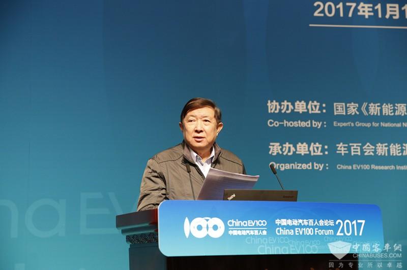 科技部原部长、中国电动汽车百人会学术委员会主席徐冠华