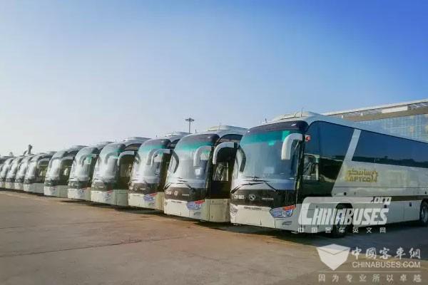 322辆金龙客车出口沙特