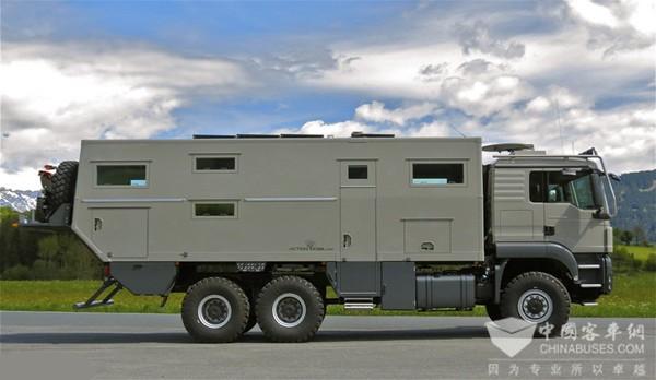 奥地利推出18吨超豪华越野房车
