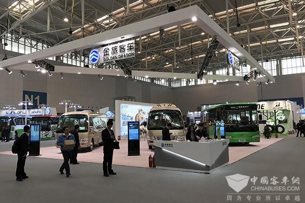 """金旅天津车展:打造新能源和传统客车""""多面手"""""""