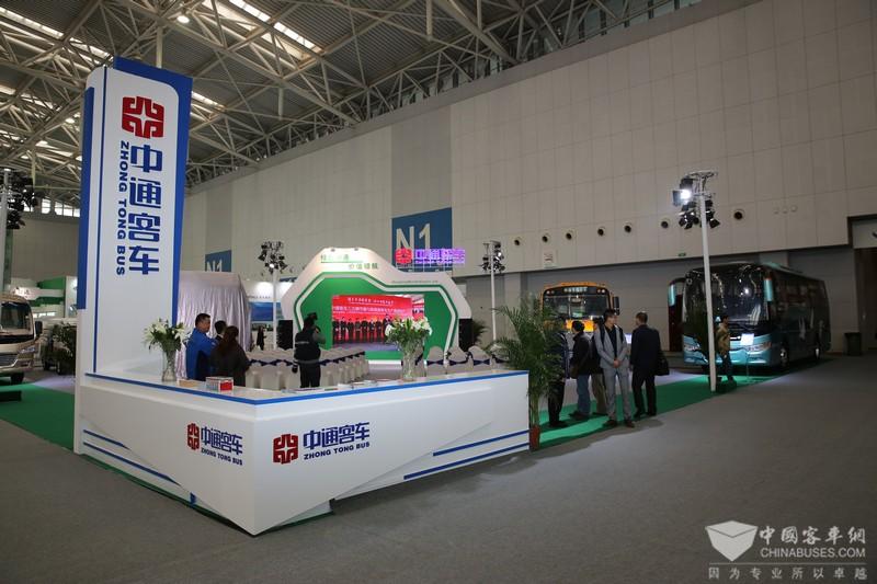 2017天津客车展:中通客车展台