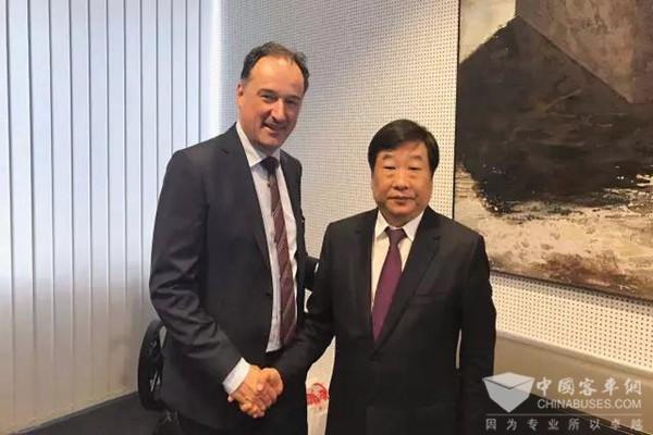 潍柴董事长谭旭光率队访问德国道依茨公司、奥地利AVL公司