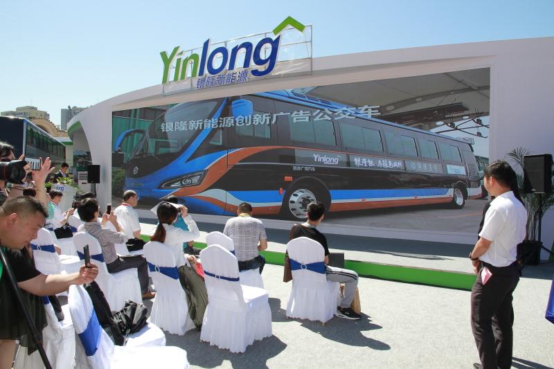 2017北京道路运输展:银隆客车展台