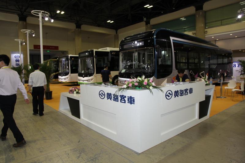 2017北京道路运输展:黄海客车展台