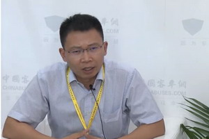 2017北京道路运输展:中国客车网专访苏州绿控副总经理洪思明