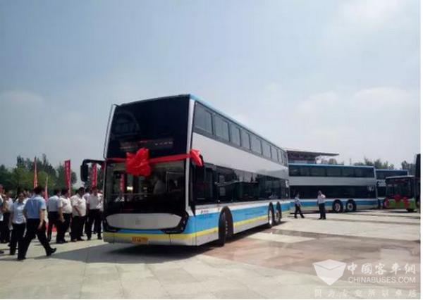 """又见""""钛酸锂"""" 银隆新能源双层公交车北京延庆投运"""
