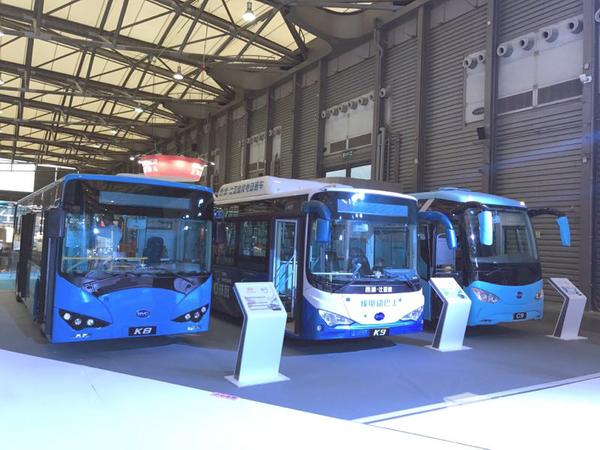 专注打造高品质  比亚迪电动家族亮相上海国际客车展