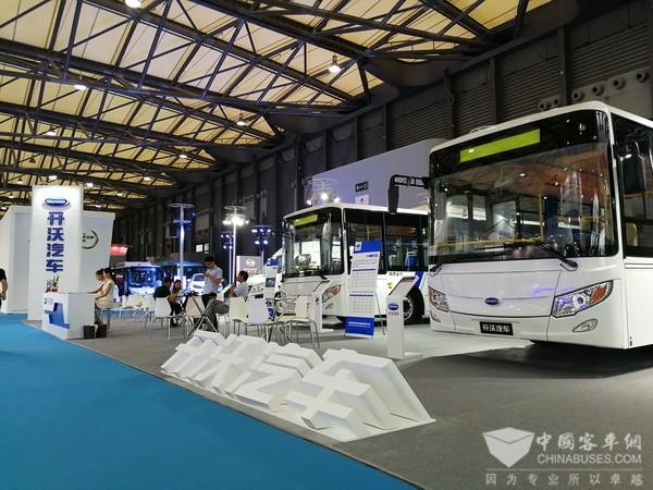 公交、物流齐上阵,开沃携经典车型亮相上海客车展