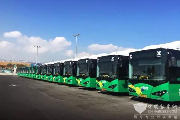 比亚迪打造以色列首支纯电动大巴车队