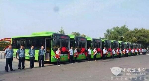 河南濮阳 清风县3条线路投入20辆新能源公交