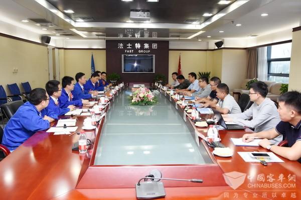 集瑞联合重工公司总经理李衍硕访问法士特