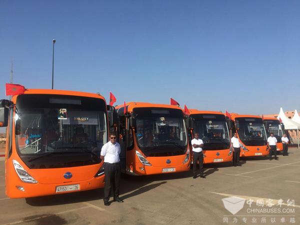 摩洛哥首条BRT开线,扬子江纯电动公交正式运营