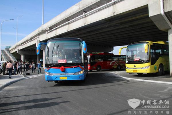 黑龙江:百辆宇通纯电动客车在佳木斯投入运营