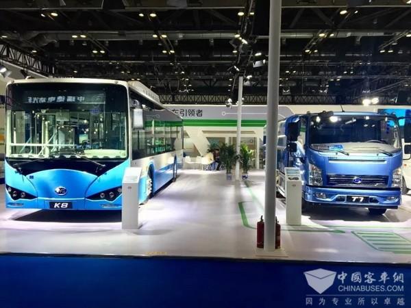 公交卡车齐发力 比亚迪亮相2017北京国际新能源汽车成果展