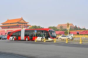 银隆新能源18米BRT在京正式投运