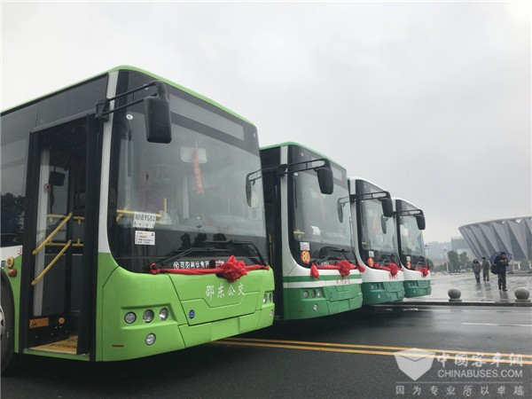 公交新样板 中车电动280辆纯电动客车交付邵阳