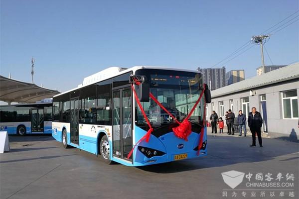 北京城市副中心迎来350台比亚迪纯电动客车