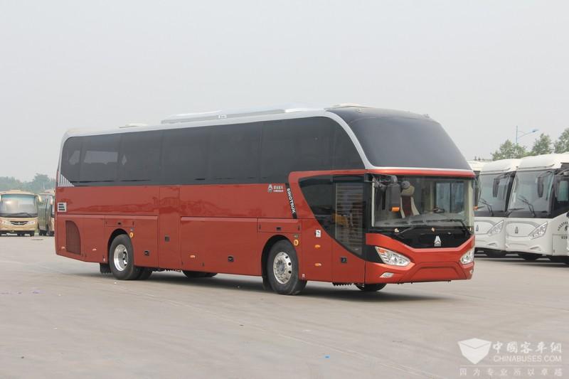 重汽11米高一级旅游客运车辆(JK6117H5A)