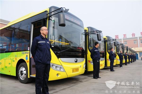 山东高青:新能源智慧公交车投入运营