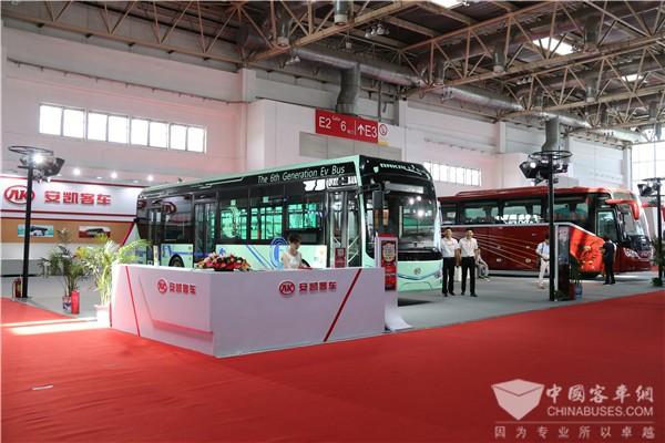 第六代纯电动客车全球首发 安凯三款明星车型亮剑京城