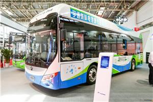 宇通10.5米氢燃料电池客车新品全球首发