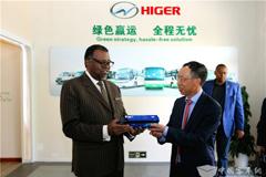 纳米比亚总统根哥布参访海格客车