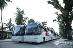 首批援柬海格流动诊所医疗车在金边交接