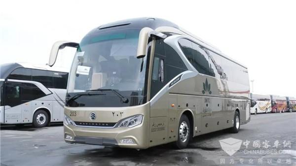 麦加朝觐高端用车 金旅领航者首入沙特
