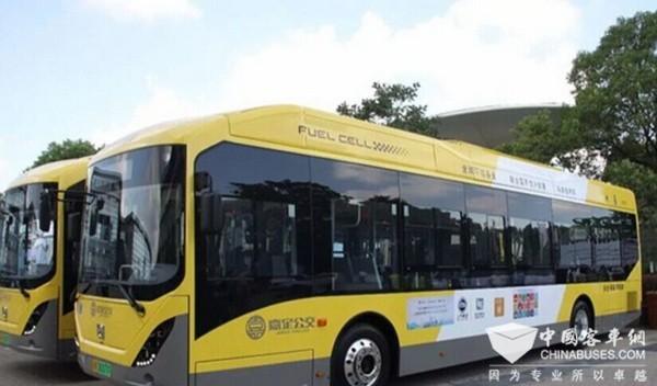 申沃氢燃料电池客车交付嘉定公交