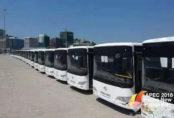 金龙85台援助客车交付巴新,将服务2018APEC领导人非正式会议