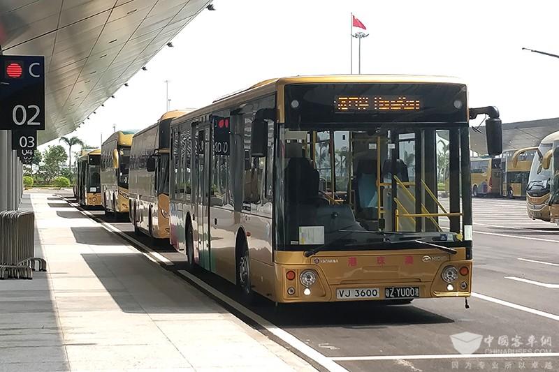 港珠澳大桥斯堪尼亚海格穿梭巴士