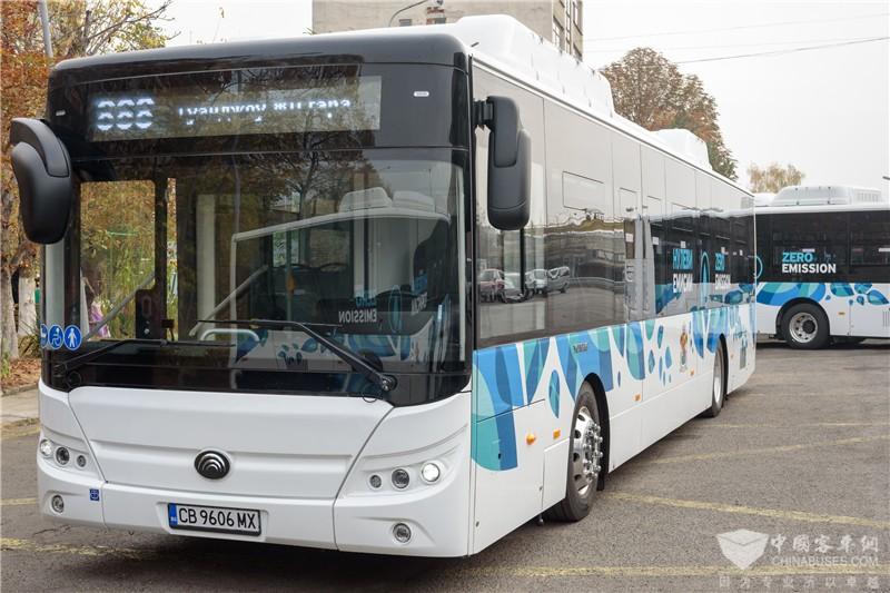 本次交付保加利亚的纯电动客车