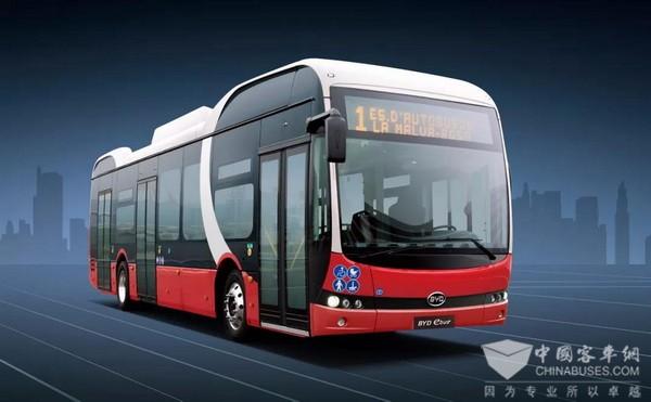 比亚迪打造丹麦最大纯电动大巴车队
