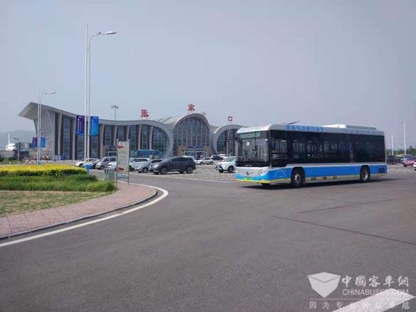"""氢燃料汽车亮相魅力""""氢""""城张家口 促进京津冀氢能一体化进程"""
