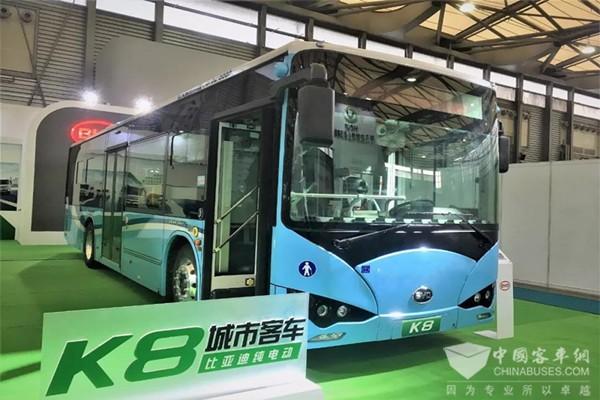 引领节能环保潮流 比亚迪亮相上海国际客车展