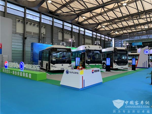 """2018上海客车展 申龙""""电氢""""组合探索未来交运新方案"""
