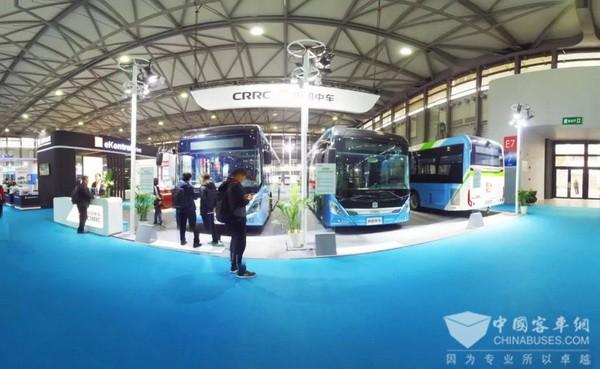 """来2018上海国际客车展 看中车电动18米""""巴客龙"""""""