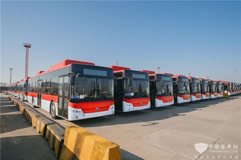 百台宇通纯电动公交启航赴智利